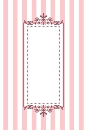 vintage grunge image: Vector vintage pink frame a strisce