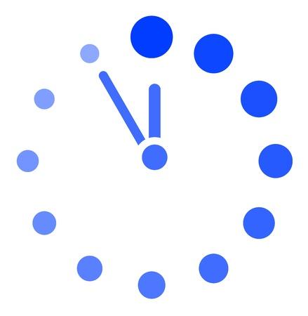timescale: Vector clock icon Illustration