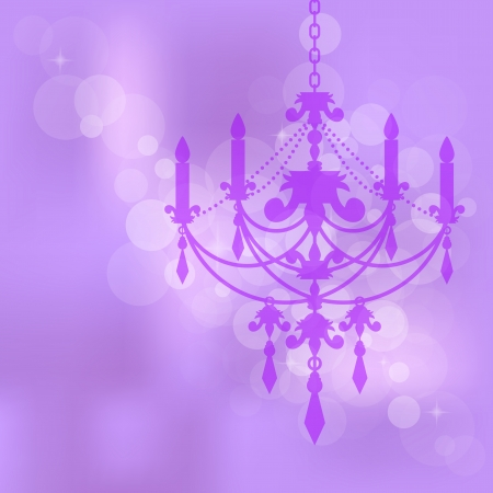 Vector purple background with chandelier Vector