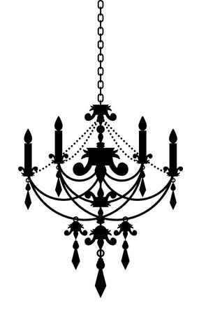 chandelier: Vector illustration of chandelier
