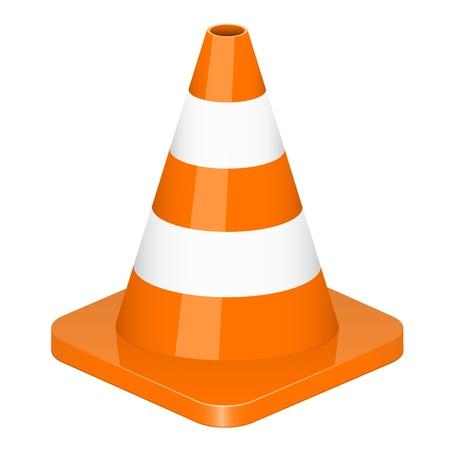 Ilustración vectorial de cono de tráfico