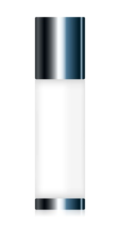 lotion bottle: Vector illustration of cosmetic container