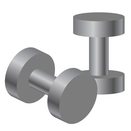 Vector illustration of dumbbells Stock Vector - 15210649