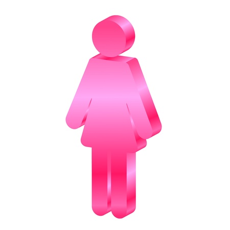 Vector female 3d icon Stock Vector - 15210660