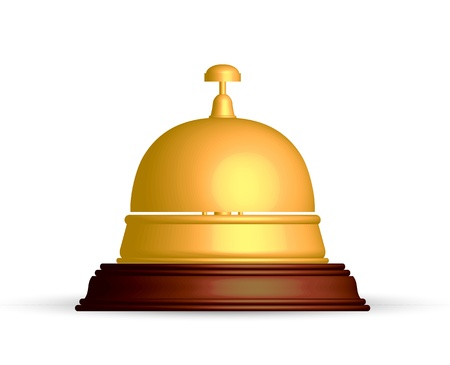 Vector illustration of gold reception bell Ilustracja