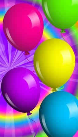 Vector card with shiny balloons Stock Vector - 15210785