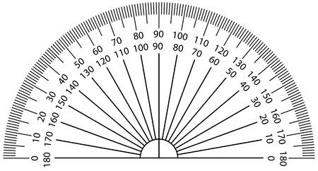 Vector illustration d'un rapporteur