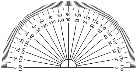 trigonometry: Vector illustration of protractor