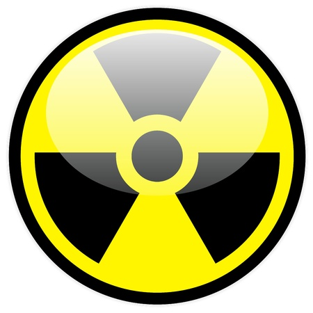 Vector radiation symbol Vector