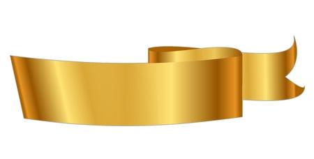 Vector illustration of gold ribbon Vector