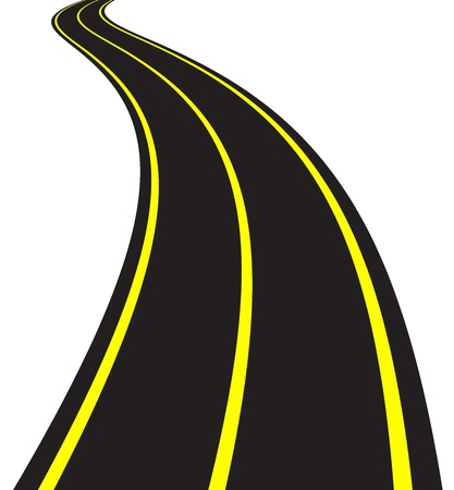curved line: Vector Illustration of winding road