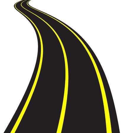 krökt: Vektor Illustration av slingrande väg Illustration