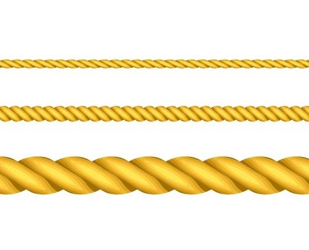 laundry line: Ilustraci�n vectorial de cuerdas de oro Vectores