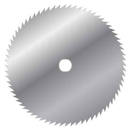 silver circle: Illustrazione vettoriale di lama