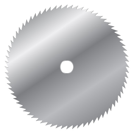Vector illustration of saw blade Vector