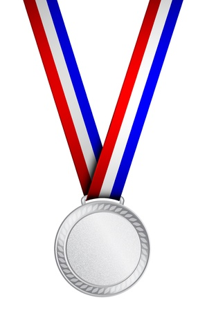 Vector illustration of silver medal Vector