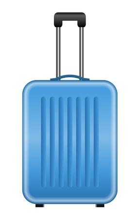 Ilustración vectorial de azul maleta Ilustración de vector