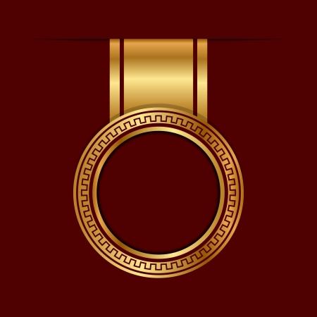 diploma: Vector etiqueta de oro