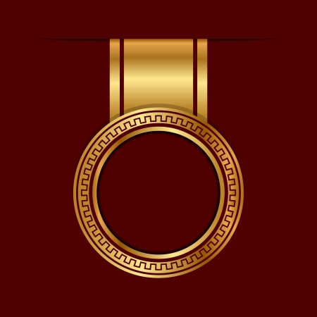 red wax seal: Vector gold label