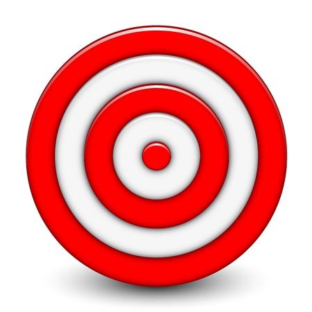 intention: Vector illustration de la cible 3D