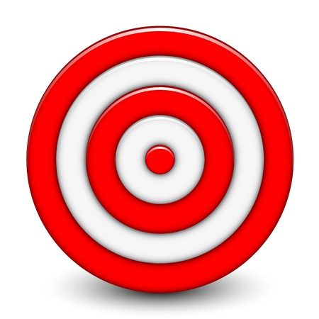 Vector illustration of 3d target Vector