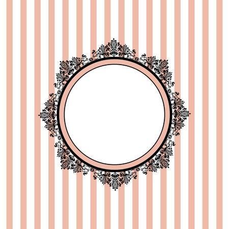 Vector roze gestreepte achtergrond Vector Illustratie
