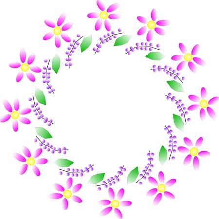 Vector illustration de la couronne de fleurs