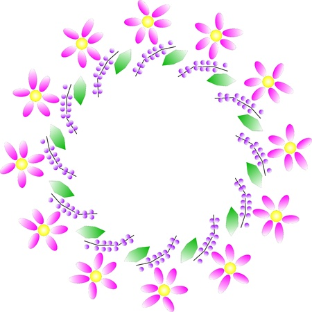Vector illustration of flower wreath Vector