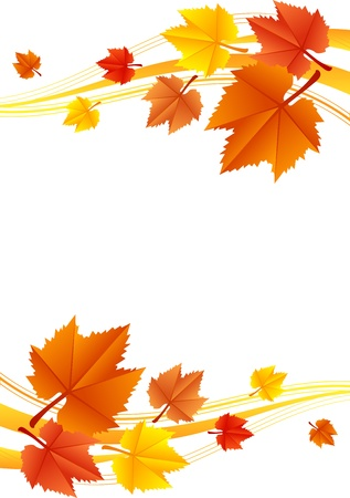 Vector autumn frame Vector