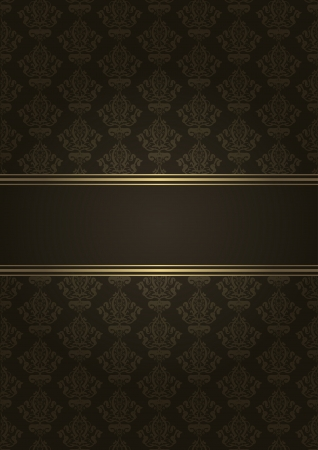 tapet: Vector brown and gold luxury background