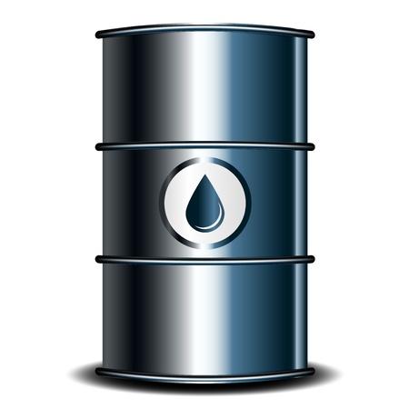 barril de petróleo: Ilustración vectorial del barril de petróleo