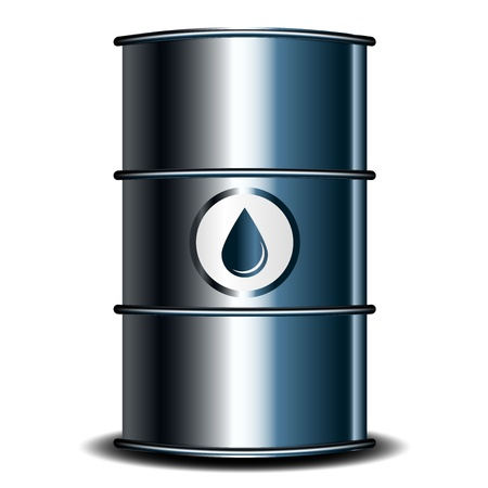 oil: Vector illustration of oil barrel Illustration