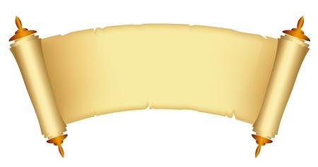 scroll?: Ilustraci�n vectorial de desplazamiento de la Ley Vectores