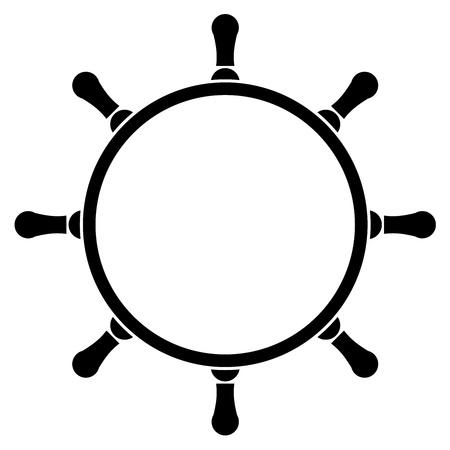 roer: Vector illustratie van het stuurwiel Stock Illustratie