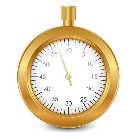 Vector illustration of gold stopwatch Vector