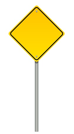 sign pole: Vector illustration of warning sign