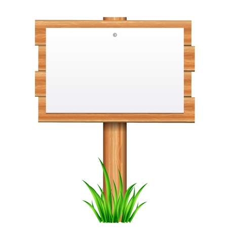 Vector illustration of paper on wooden