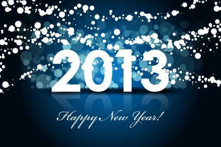 2013 - New year background Stock Vector - 15735562