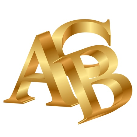 3d dimensional:  3d icon of ABC Illustration