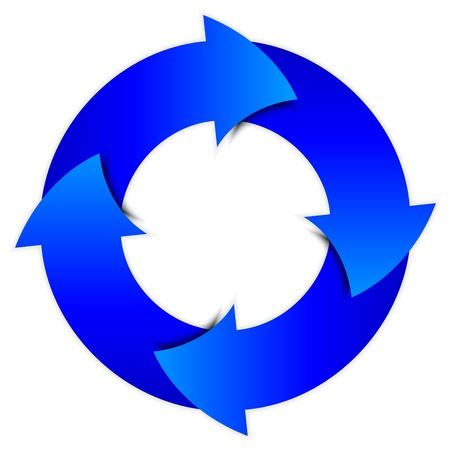 frecce blu cerchio