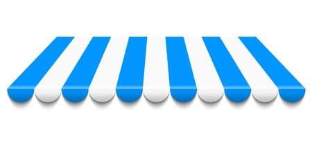 Illustration der blauen und weißen Markise Vektorgrafik