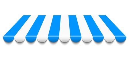ilustración del toldo azul y blanco Ilustración de vector
