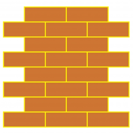 illustration of brick wall Vector