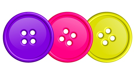 seamstress: illustration of colorful buttons