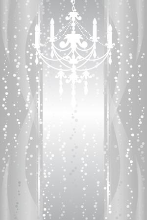 marco de plata con la lámpara