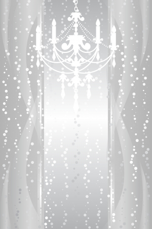chandelier: silver frame with chandelier