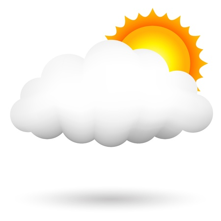 cloudy day: illustration of cloud ans sun Illustration