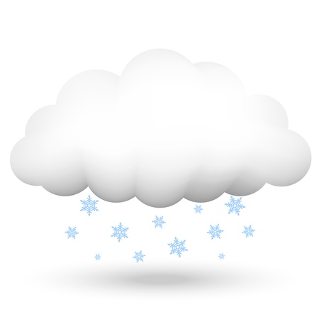 illustration of cloud with snowflakes Vector