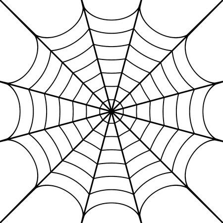 illustration of cobweb Vector