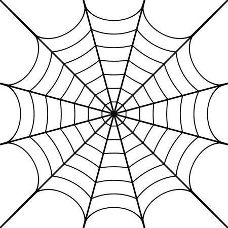 illustrazione di ragnatela Vettoriali